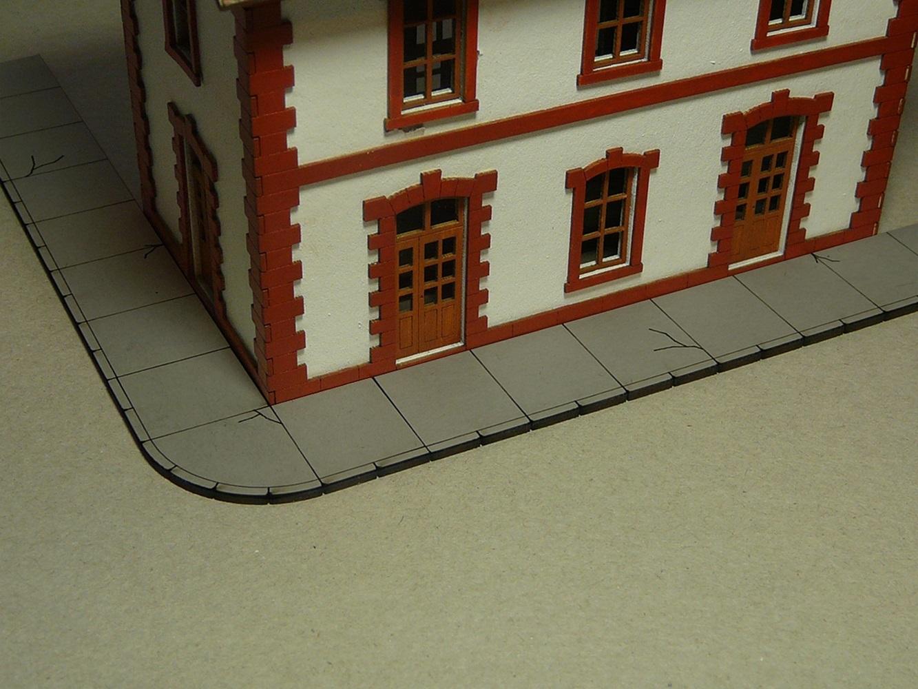 Details about bachmann ho scale train accessories concrete sidewalk