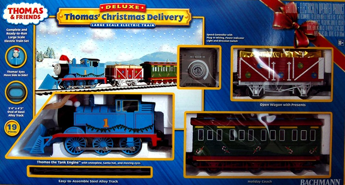 Bachmann Bachmann Trains Thomas Christmas Delivery Large 'G' Scale Ready To Run Electric Train Set