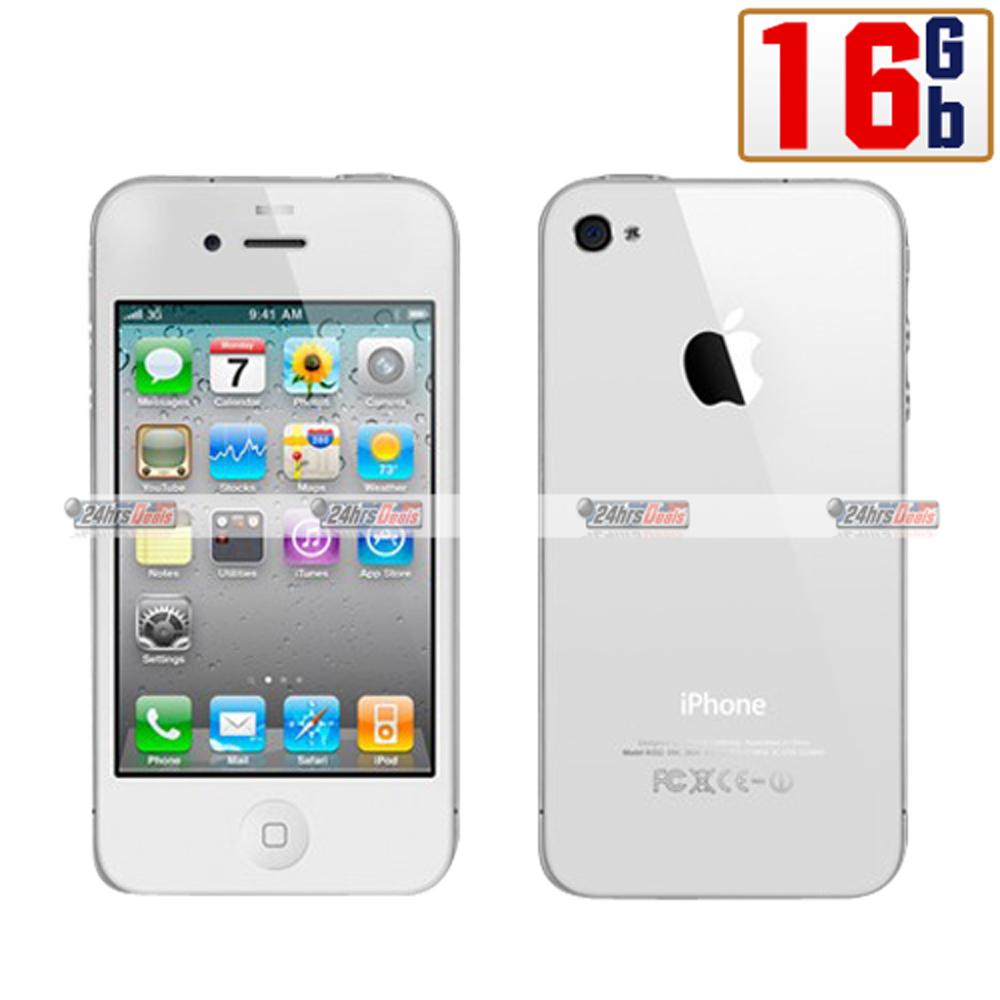 Apple iPhone 4 16Gb White WiFi Unlocked GSM QuadBand 3G Cell Phone