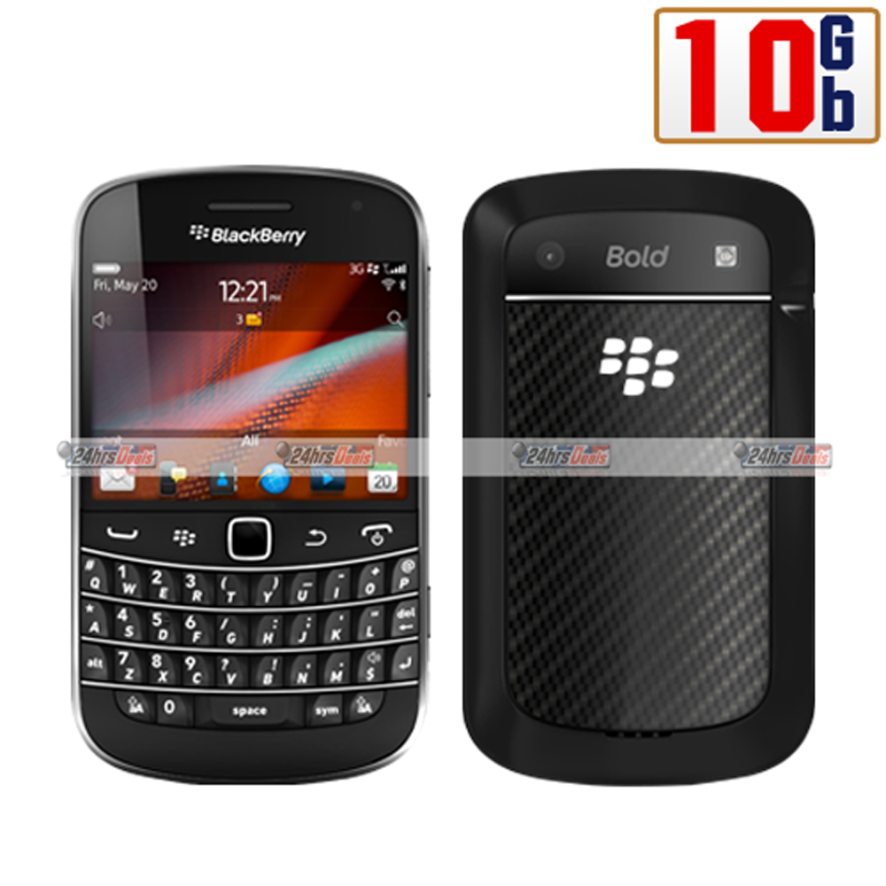 BlackBerry Bold Touch 9900 10Gb Black WiFi GSM 3G Bar Cell Phone