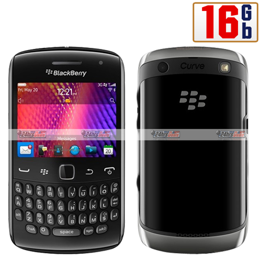 Blackberry Curve 9360 16Gb Black WiFi Unlocked 3G Bar Cell Phone