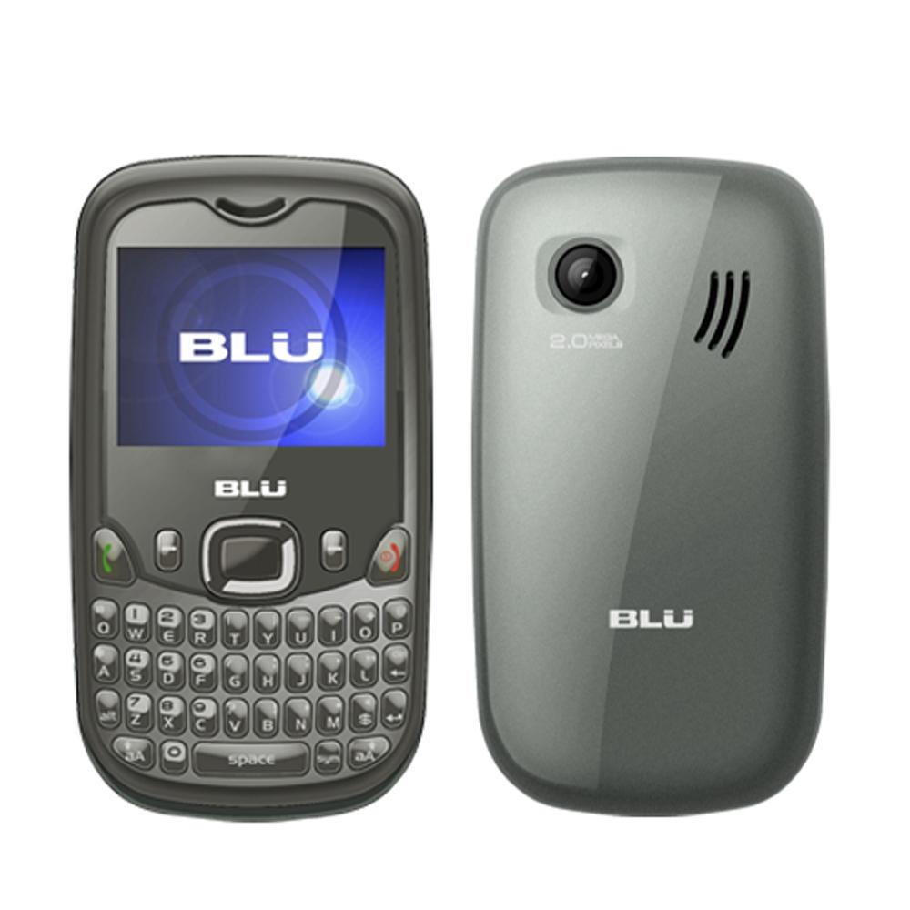 Blu Samba Elite Q210E Gray Unlocked GSM Dual Sim Quadband Keyboard