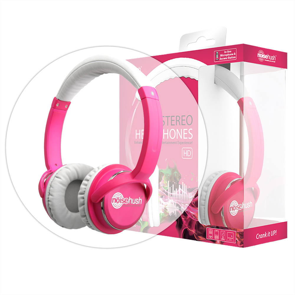 NoiseHush NX26 Pink 3.5mm Stereo Headphone with Mic for HTC Nexus One at Sears.com