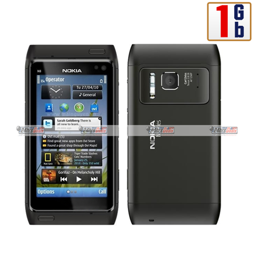 Nokia N8 1Gb Gray WiFi Touchscreen Unlocked QuadBand 3G Cell Phone