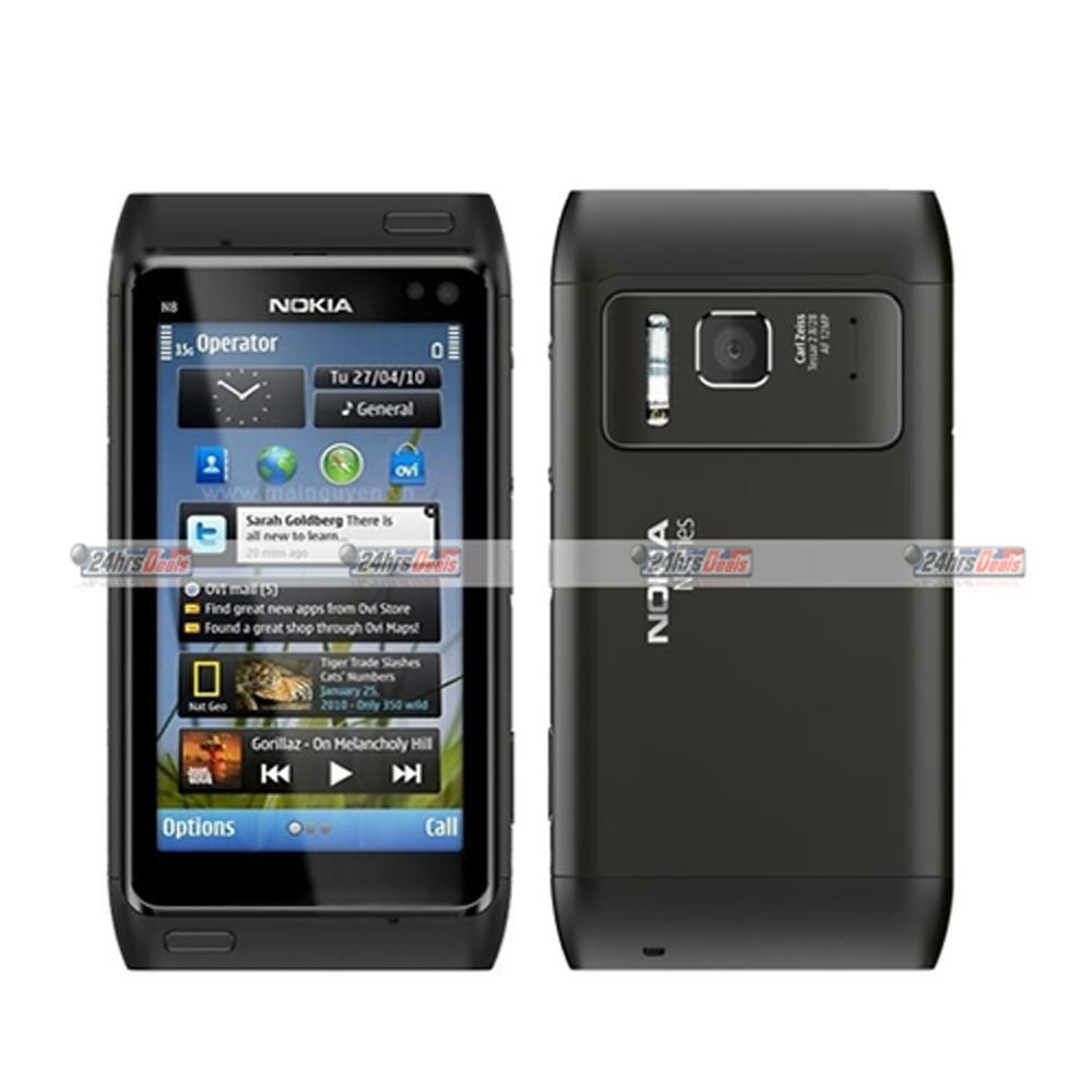 Nokia N8 Gray WiFi Touchscreen Unlocked QuadBand 3G Bar Cell Phone