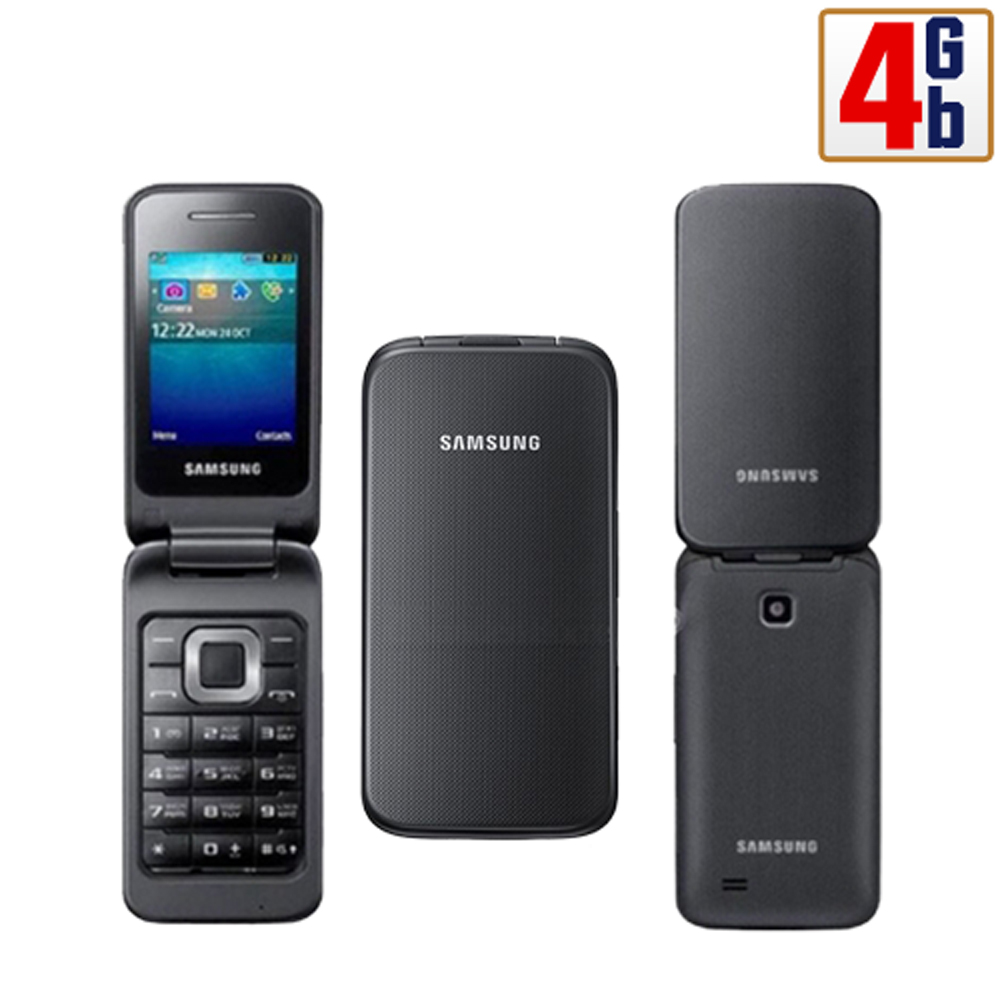 new samsung c3520 4gb black unlocked quadband gsm flip cell phone ebay. Black Bedroom Furniture Sets. Home Design Ideas