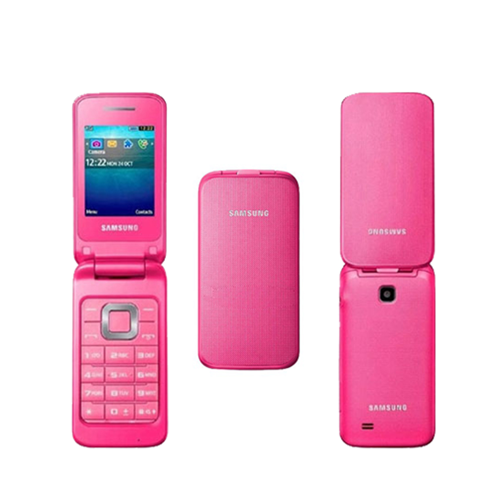 new samsung c3520 pink unlocked quadband gsm flip cell phone ebay. Black Bedroom Furniture Sets. Home Design Ideas