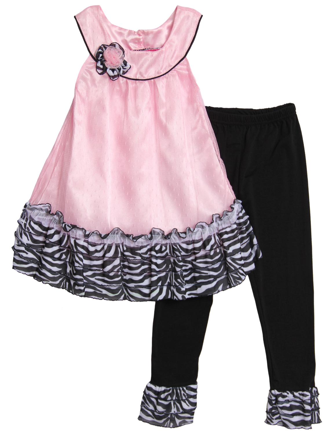 Angel Face Toddler Girls 2 Piece Pink Zebra Print Sleeveless Top Leggings Set at Sears.com