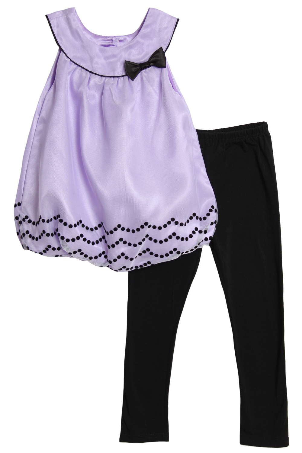 Angel Face Infant Baby Girls 2 Piece Purple Sleeveless Bubble Top Leggings Set at Sears.com