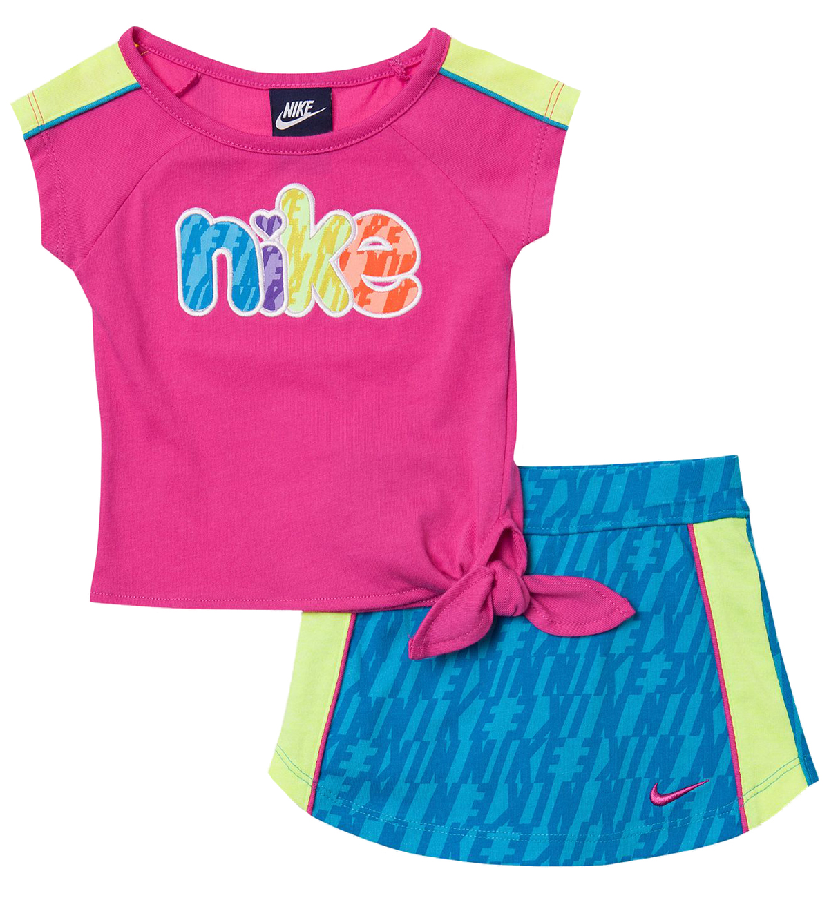 Nike Nike Baby Girls' 2 Piece Pink Top Blue Athletic Scooter Set