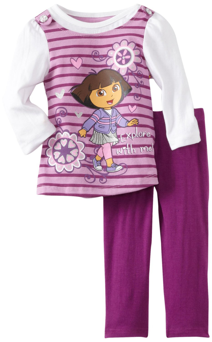 Nickelodeon Little Girls 2 Piece Purple Dora the Explorer Top Leggings Set at Sears.com