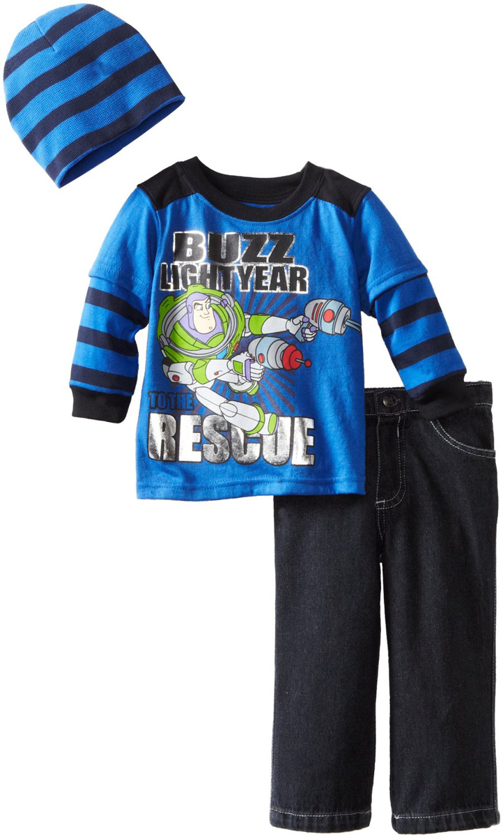 Disney Infant Baby Boys 3 Piece Buzz Lightyear Toy Story Shirt Jeans Beanie Hat at Sears.com