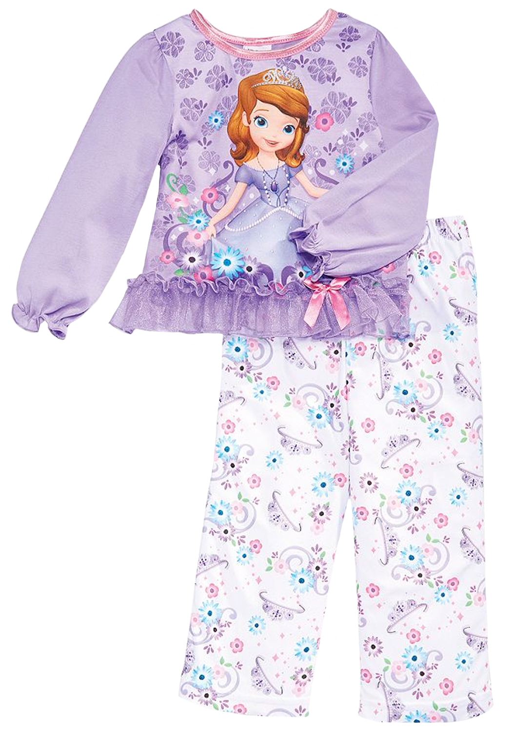 Disney Little Girls' 2 Piece Sofia the First Princess Purple Pajama Set at Sears.com