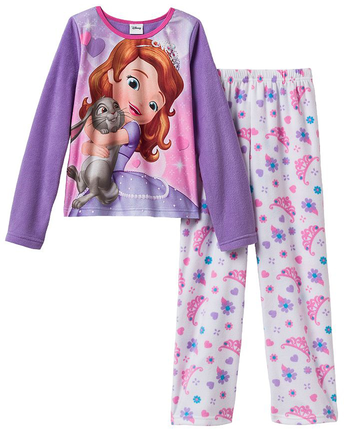 Disney Little Girls' 2 Piece Sofia the First Princess Polar Fleece Pajama Set at Sears.com