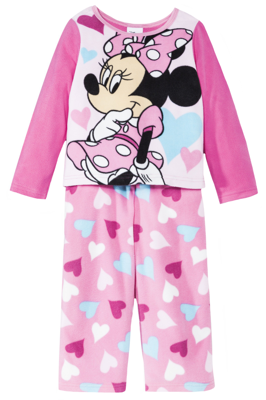 Disney Infant Baby Girls 2 Piece Minnie Mouse Polar Fleece Pajama Set at Sears.com