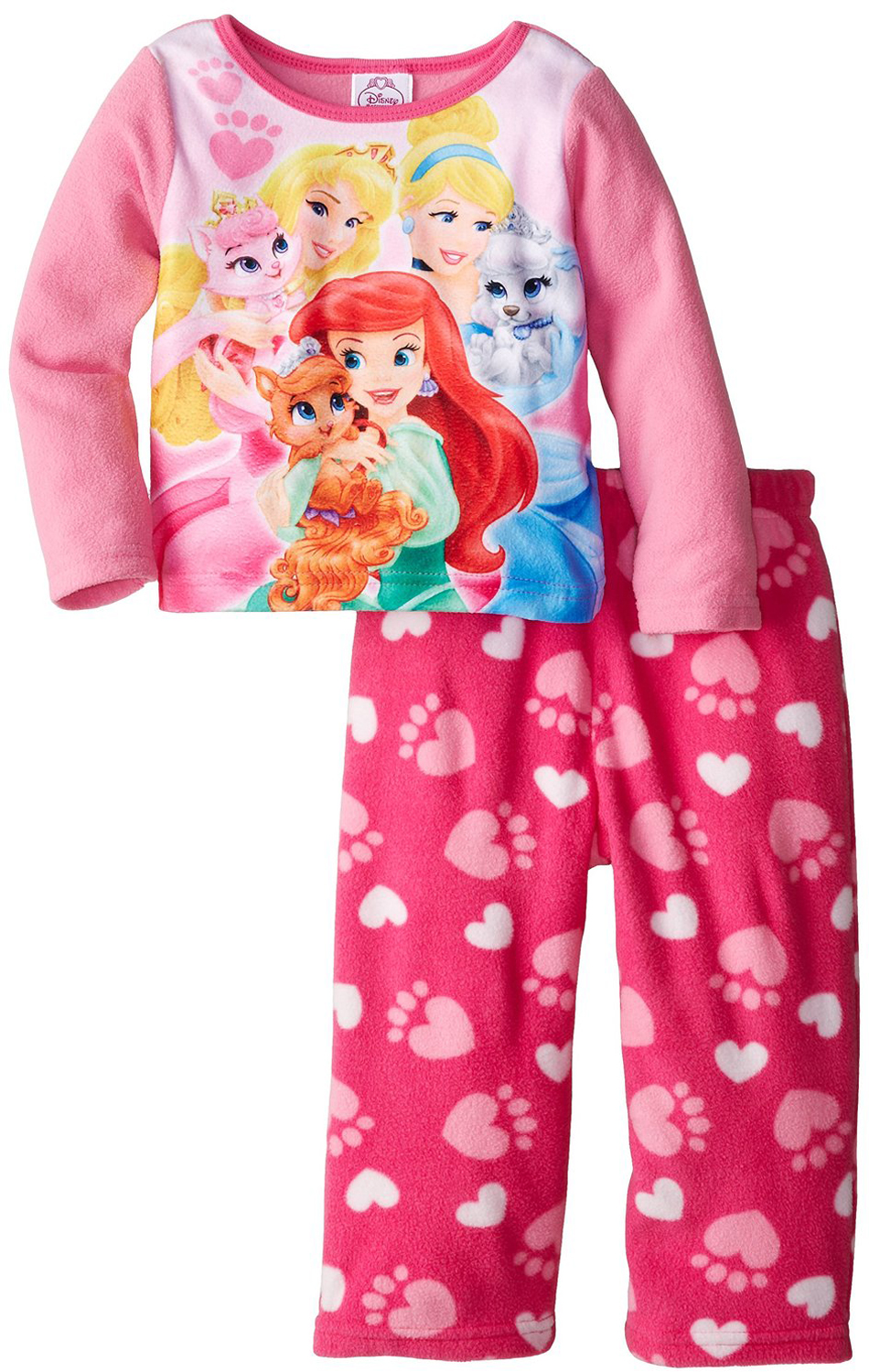 Disney Princess Little Girls' 2 Piece Palace Pets Polar Fleece Pajama Set at Sears.com