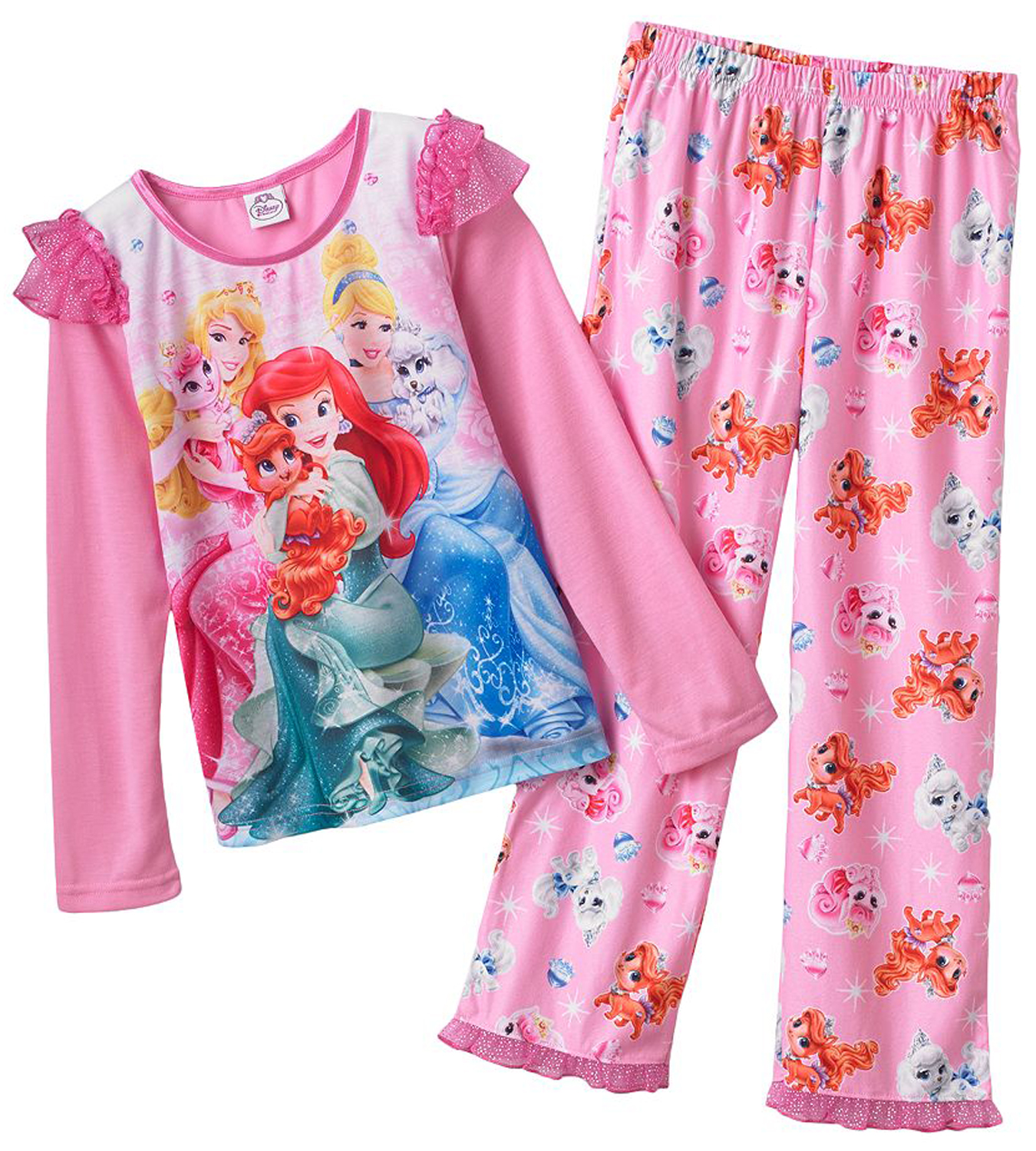 Disney Princess Little Girls' 2 Piece Palace Pets Knit Pajama Set at Sears.com