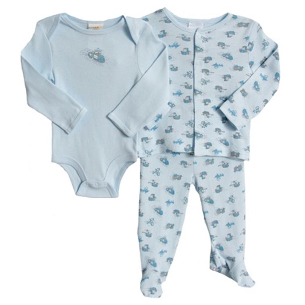 Absorba Newborn Baby Boys 3 Piece Blue Footed Layette Jacket Play Set Sleeper at Sears.com