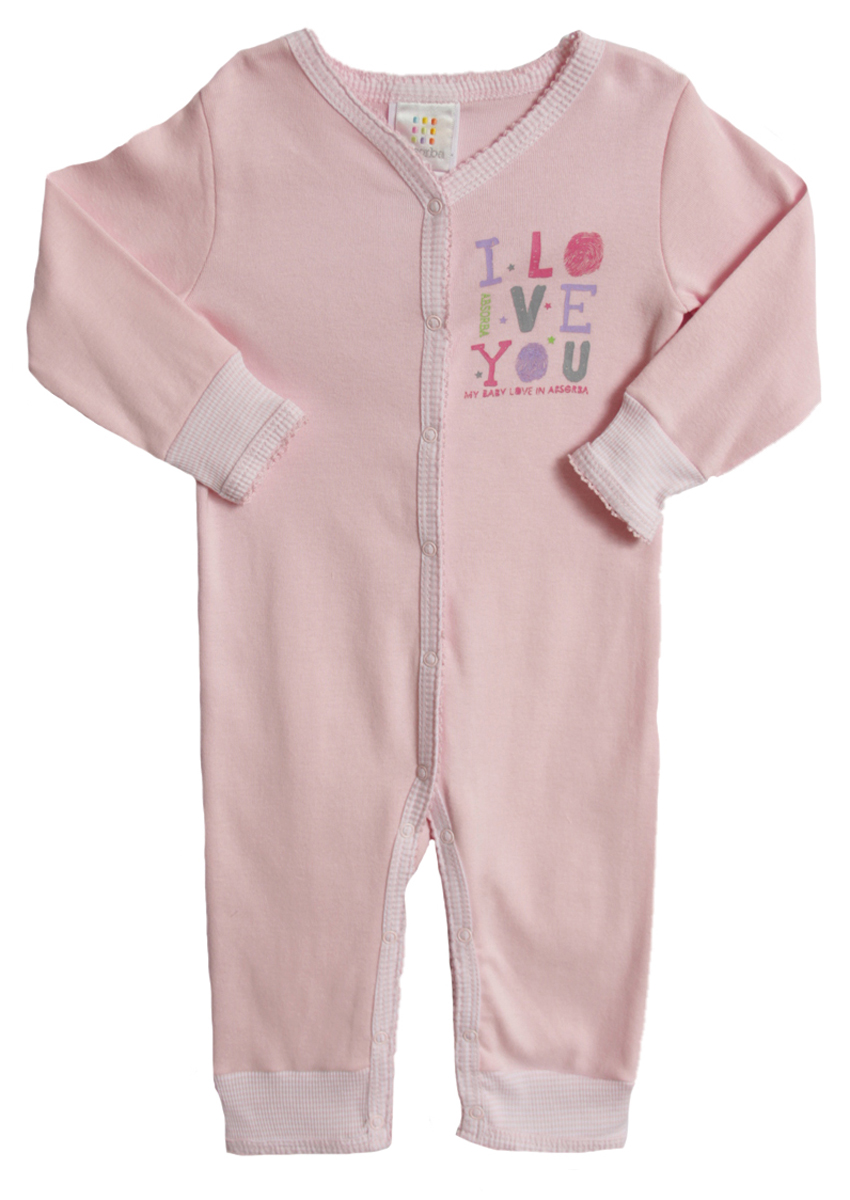 Absorba Newborn Baby Girls 1 Piece Pastel Pink Layette Cotton Sleeper at Sears.com
