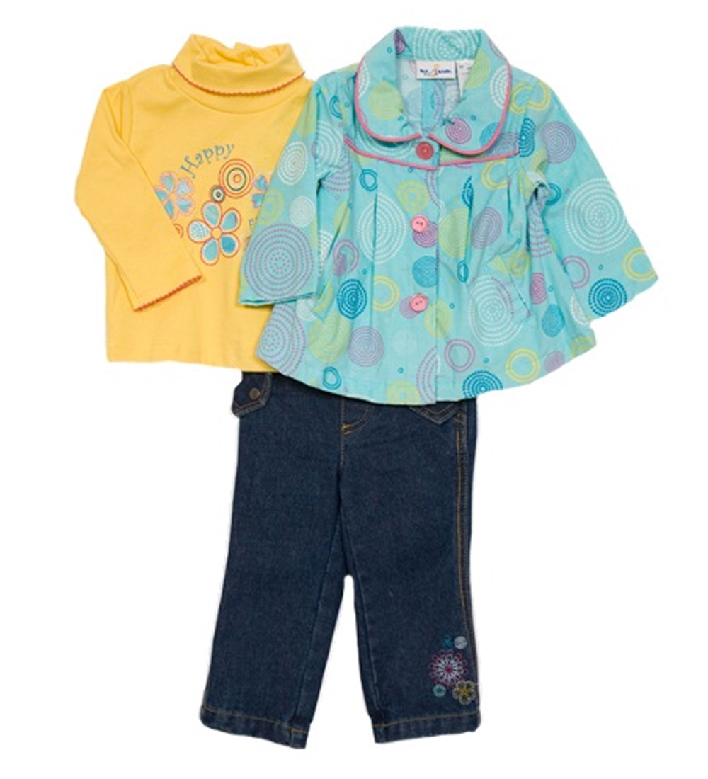 B.T. Kids Infant Girls (12-24 months) 3 pc blue corduroy jacket and jeans set at Sears.com