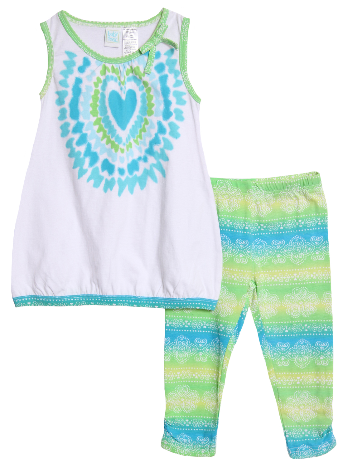 Baby Togs Baby Girls' 2 Piece Tie Dye Tank Top Bright Summer Leggings Set at Sears.com