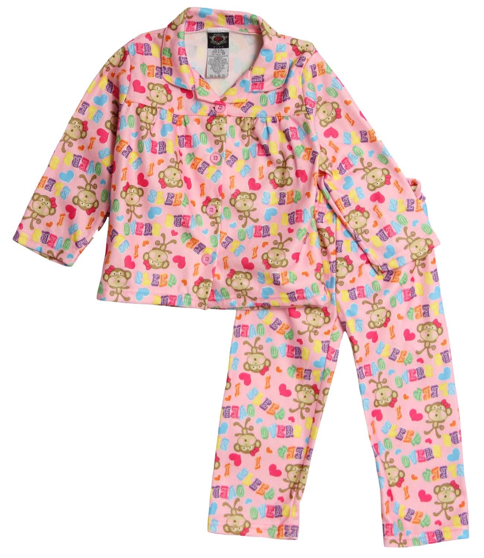 Emanuel Ungaro Little Girls' 2 Piece Light Pink Winter Flannel Pajama Set