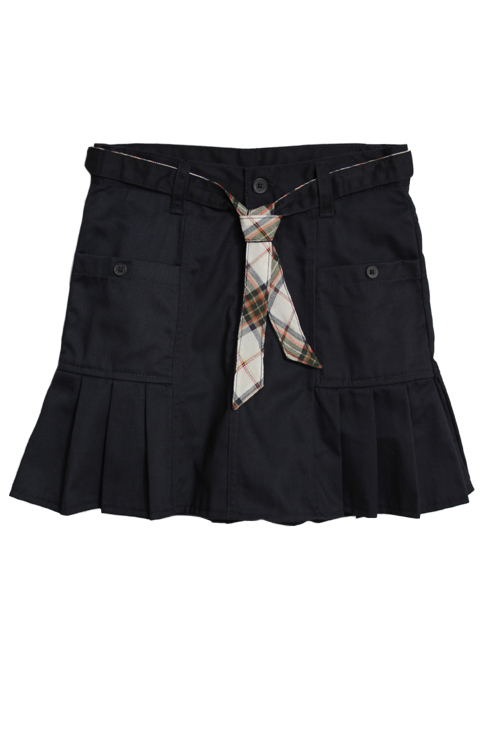 Eddie Bauer Girls (4-16) School Uniform Pleated Skort with Belt - Navy at Sears.com