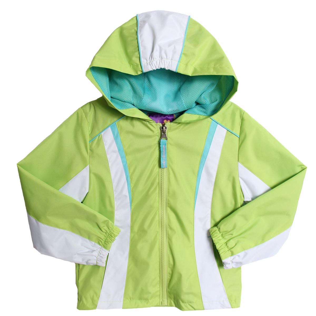 Pink Platinum Girls (4-6x) Hooded All Weather Lime Green Teal Spring Jacket at Sears.com