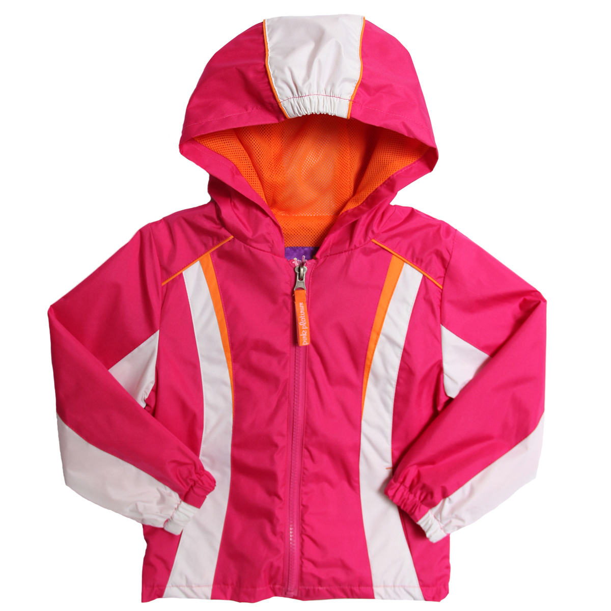 Pink Platinum Girls (4-6x) hooded all weather mesh lined jacket - fuchsia at Sears.com