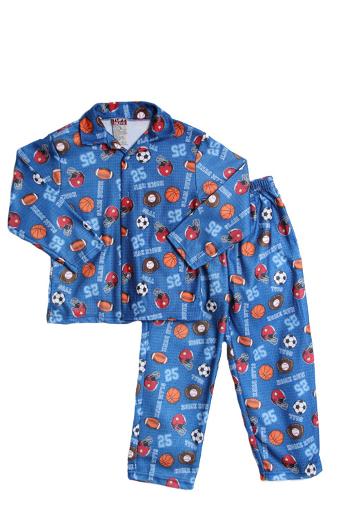 Tuff Guys Toddler Boys 2T 3T 4T 2 pc sports flannel pjs set at Sears.com