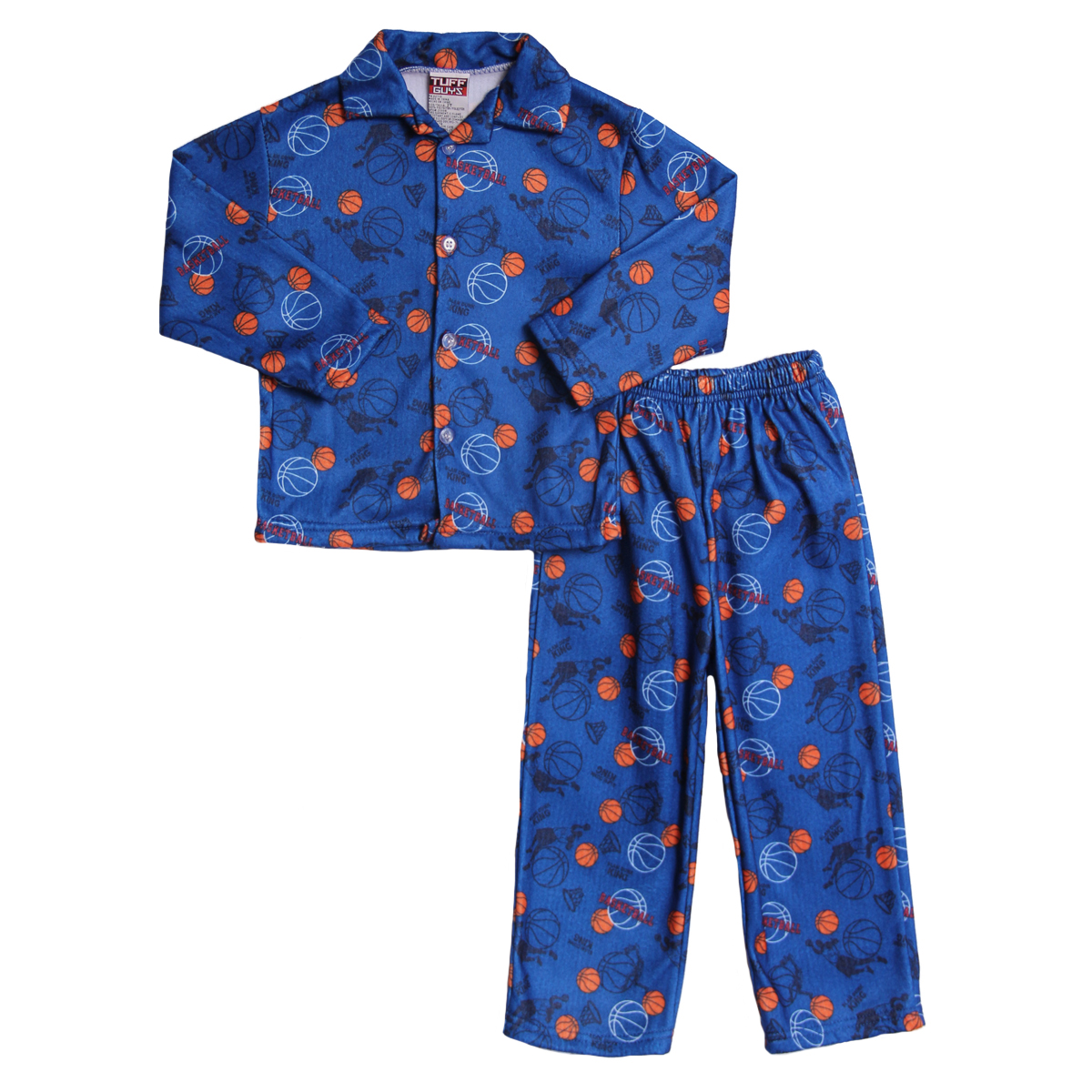 Tuff Guys Toddler Boys 2 Piece Blue Basketball Flannel Winter Pajamas Set at Sears.com