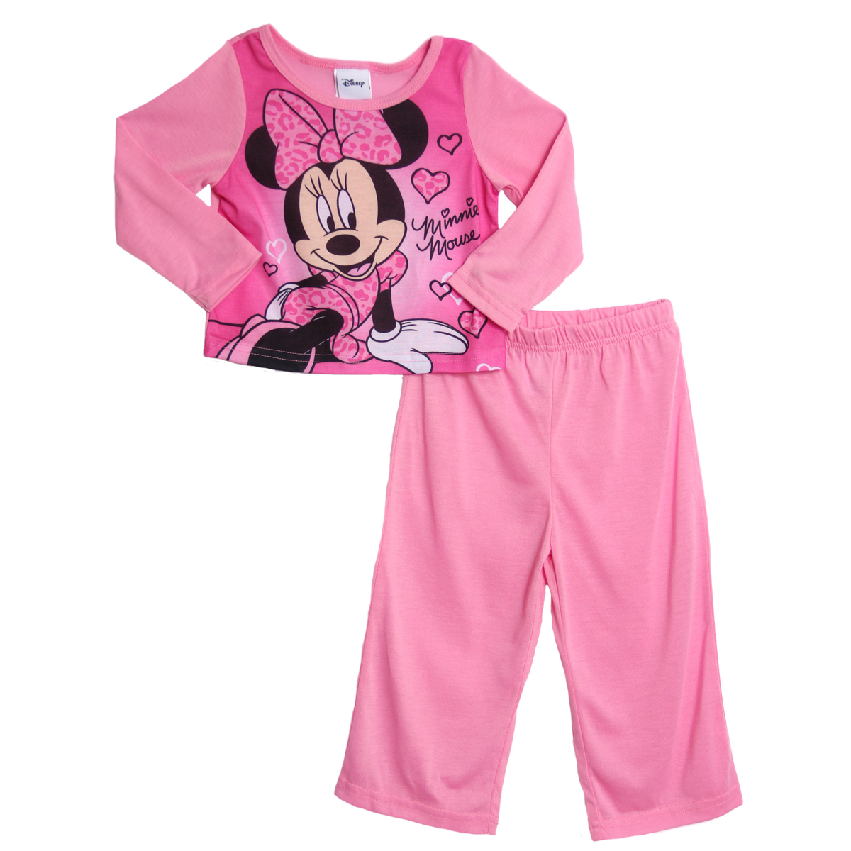 Disney Minnie Mouse Toddler Girls 2 Piece Pink Pajama Top Pants Set at Sears.com