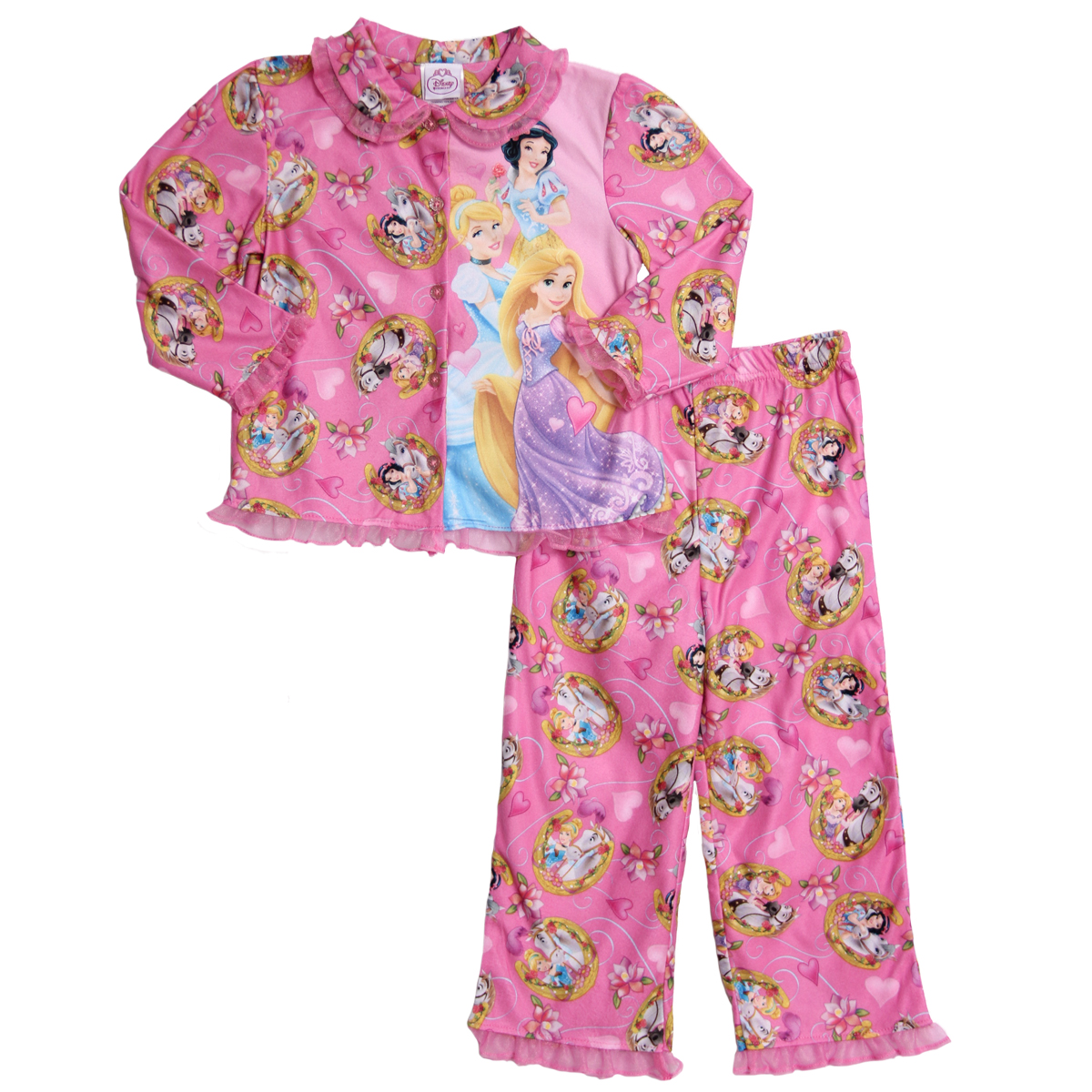 Disney Princess Little Girls' 2 Piece Pink Flannel Pajama Shirt Pants Set at Sears.com