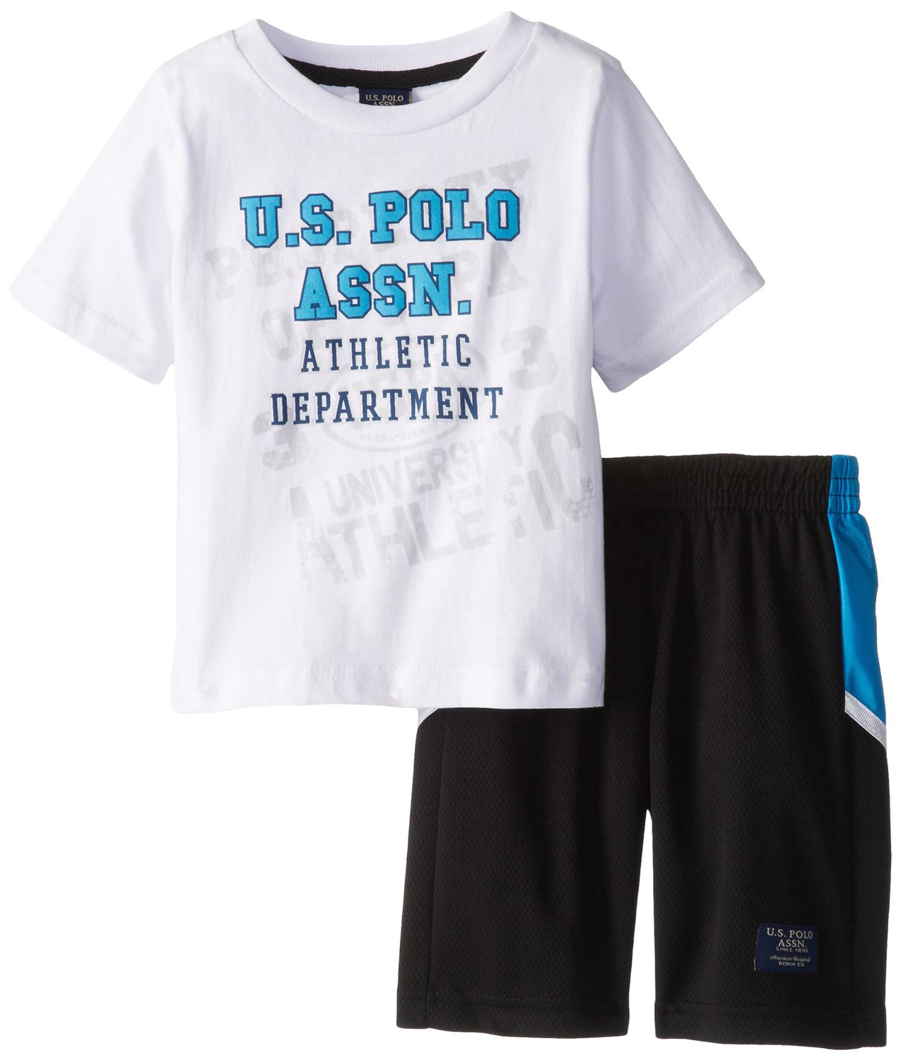 U.S. Polo Assn. Toddler Boys 2 Piece Athletic T-shirt Basketball Mesh Shorts Set at Sears.com