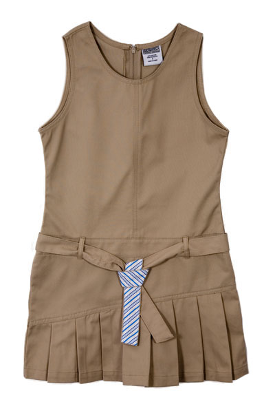 Genuine School Uniforms Girls (12-16) Belted Pleated Jumper - Khaki at Sears.com