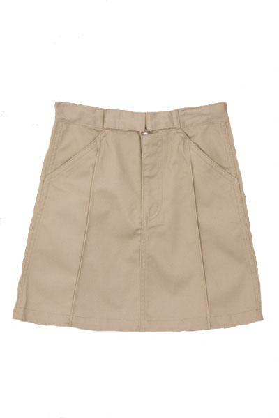 Genuine School Uniforms Girls (4-16) Uniform Skirt with Buckle - Khaki at Sears.com