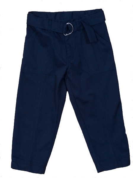 Genuine School Uniforms Girls (4-16) Belted Capri Uniform Pants - Navy at Sears.com