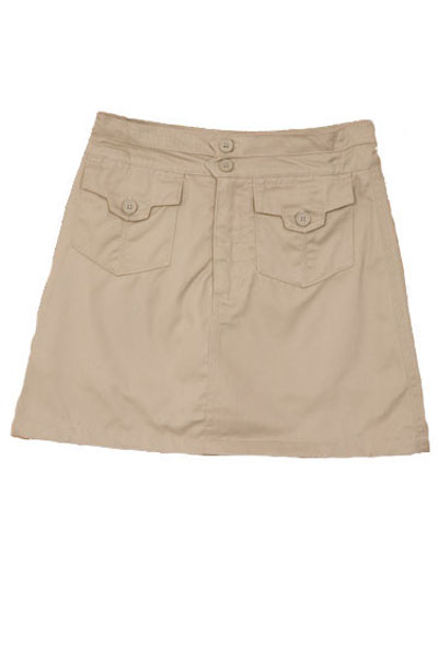 Genuine School Uniforms Girls (4-16) Pocket Uniform Skort - Khaki at Sears.com