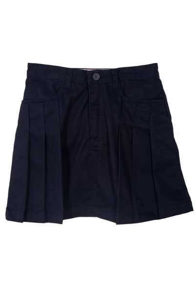 Genuine School Uniforms Girls (4-16) Pleated Uniform Skort - Navy at Sears.com
