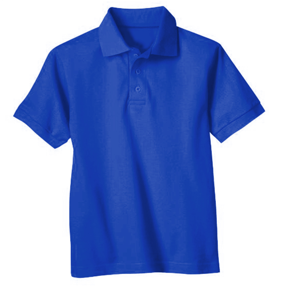 Genuine School Uniform Boys Girls Royal Blue Short Sleeve