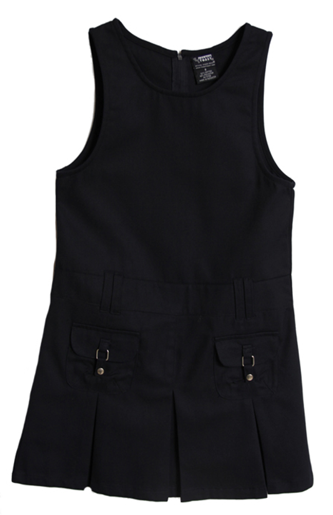 At School by French Toast Girls School Uniform Navy Dropped Waist Pleated Jumper at Sears.com