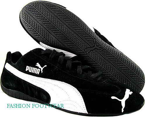New-Puma-Speed-Cat-Womens-Black-White-Casual-Athletic-Shoes-US-Sizes