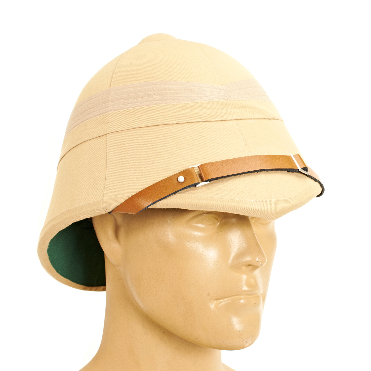 British p 1895 khaki victorian colonial pith helmet ebay for Colonial hat template