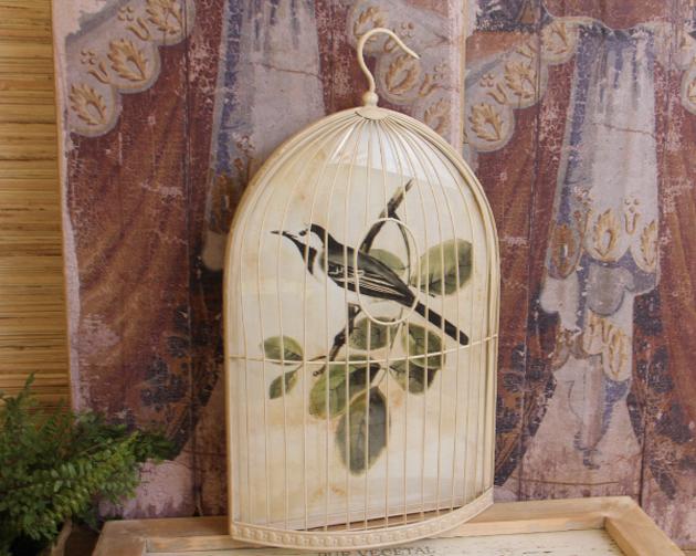 Shabby Cottage Chic Nest Prints Home Decor Wall Art ~ Shabby cottage chic bird cage print home decor wall art ebay