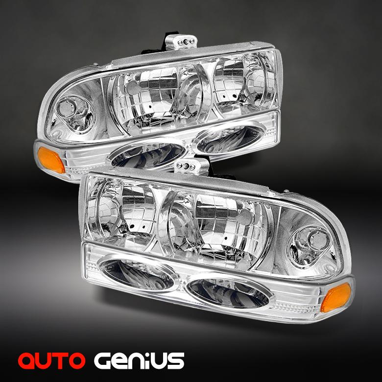 98 04 S10 Crystal Headlights Bumper Parking Signal Lights Combo