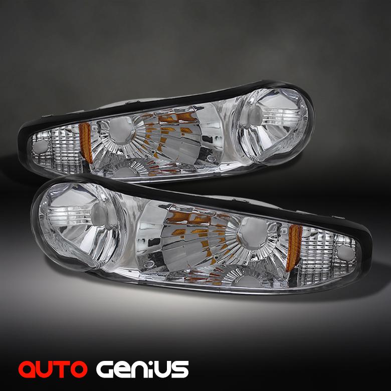 DENALI CLEAR BUMPER PARKING SIGNAL LIGHTS FRONT LAMP w/AMBER REFLECTOR