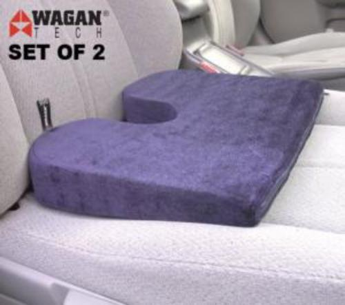 wagan ortho car seat wedge cushions set 2 for back pain ebay. Black Bedroom Furniture Sets. Home Design Ideas