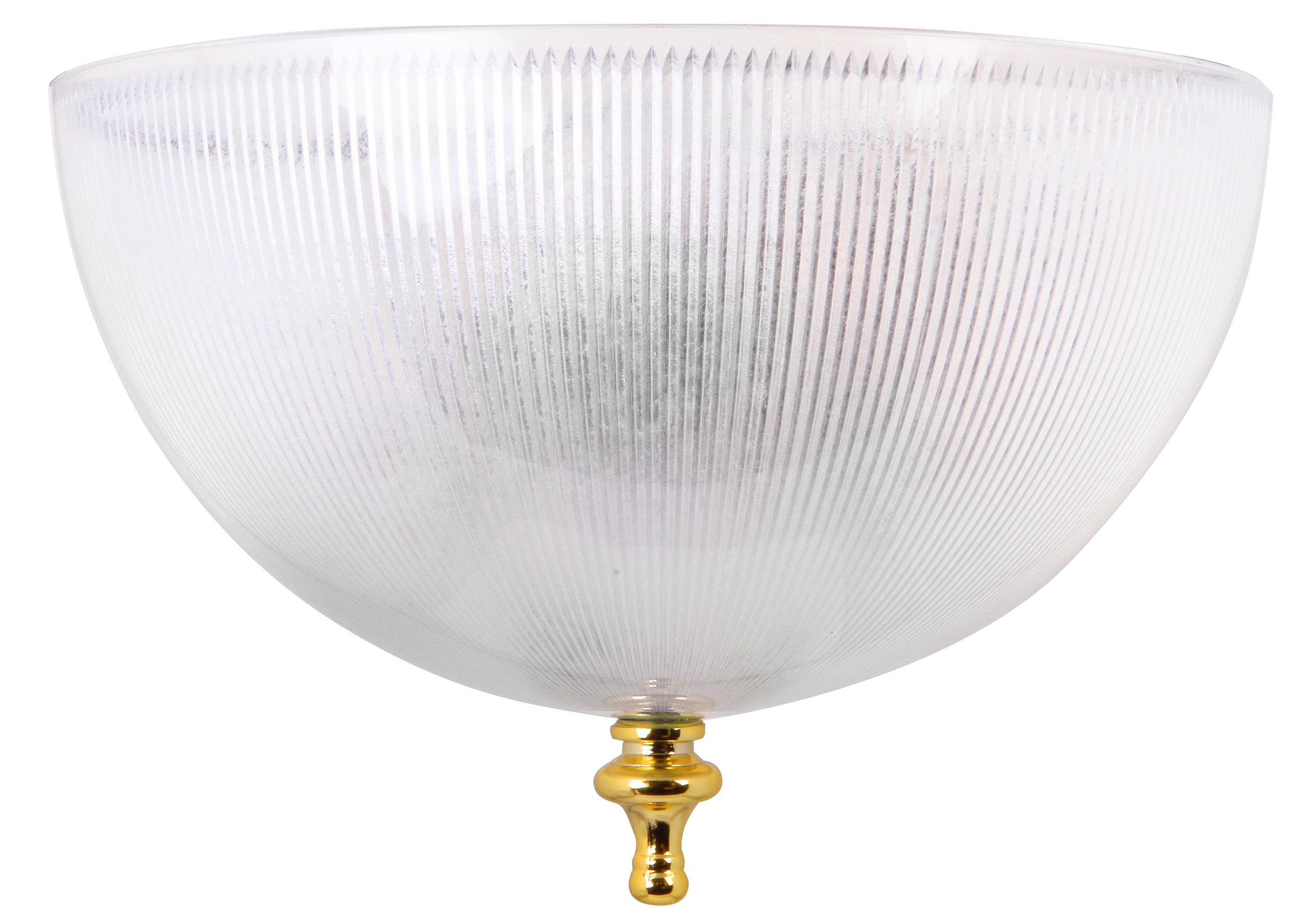 clip on ceiling light shade ribbed clear finish ebay. Black Bedroom Furniture Sets. Home Design Ideas