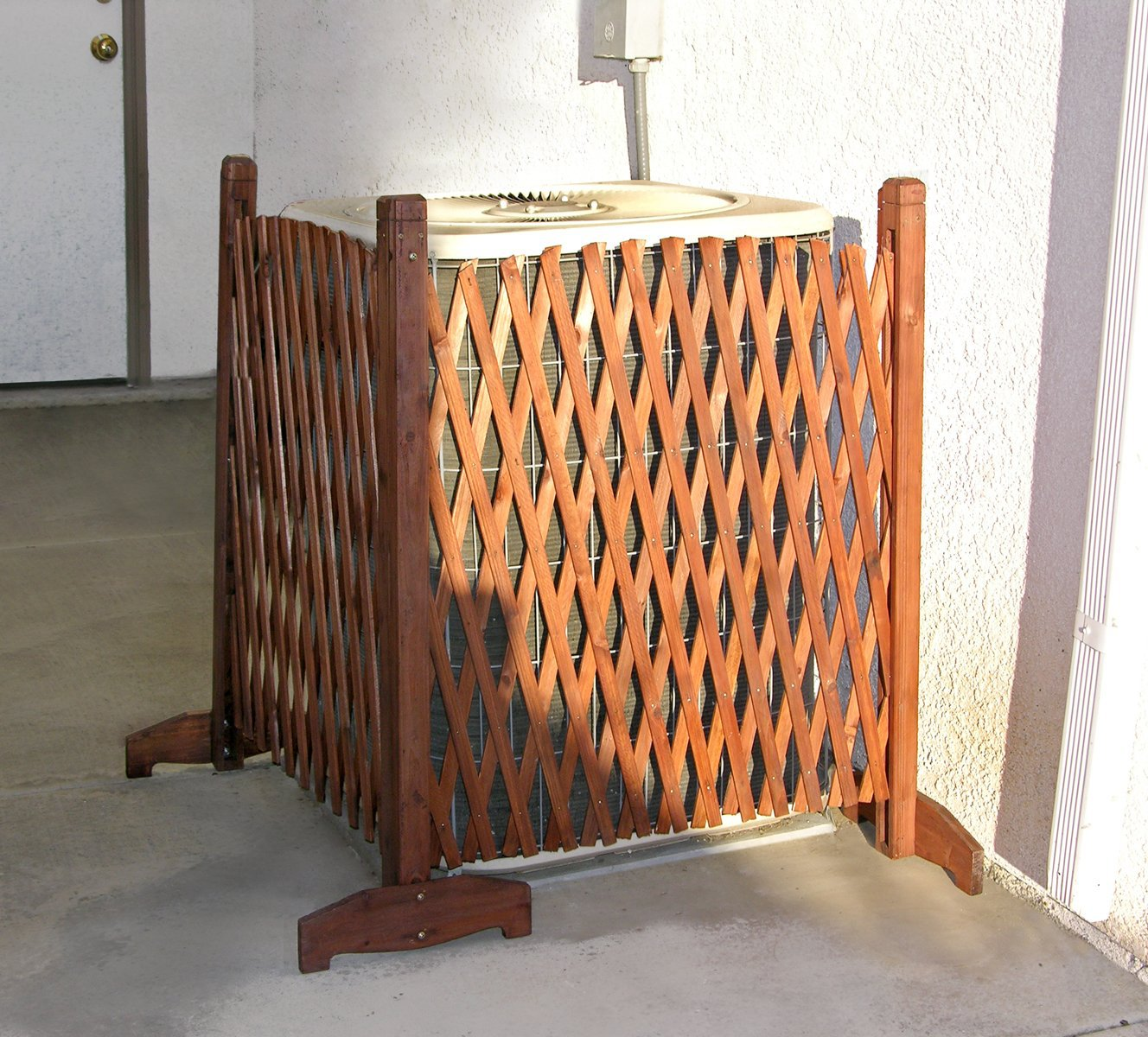 Wood lattice privacy fence screen ebay for Lattice panel privacy screen