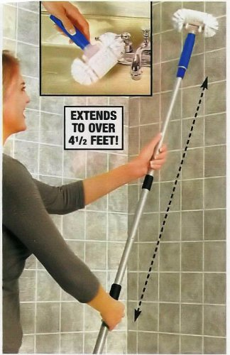 telescoping long handle swivel head tile and grout scrub. Black Bedroom Furniture Sets. Home Design Ideas